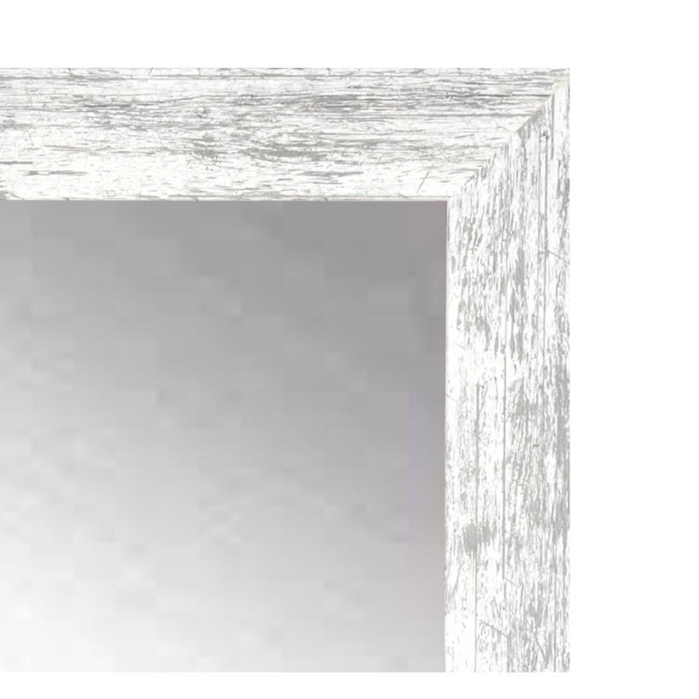 Internet 301828534 Distressed White Barnwood Wall Mirror