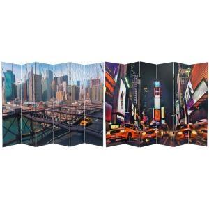 6 ft Printed 6 Panel Room Divider CAN TAXI2 The Home Depot