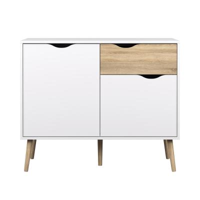 Diana White/Oak Structure Sideboard with 2-Doors and 1-Drawer