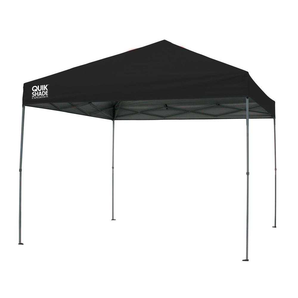 Quik Shade Expedition 10 ft. x 10 ft. Black Instant Canopy