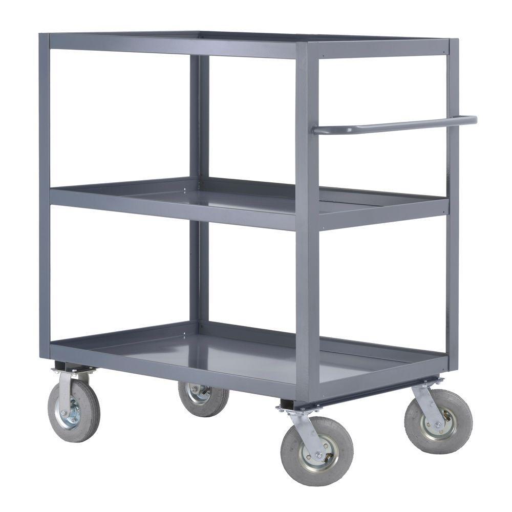 36 in. W 3-Shelf Steel Heavy Duty All Purpose Truck and Utility Cart