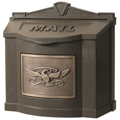 Eagle Accent Wall Mount Mailbox Bronze with Antique Bronze