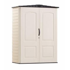 Deals on Rubbermaid 2 ft. 4 in. x 4 ft. 8 in. Small Vertical Resin Storage Shed