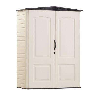 2 ft. 3 in. x  4 ft. 5 in. Small Vertical Plastic Shed