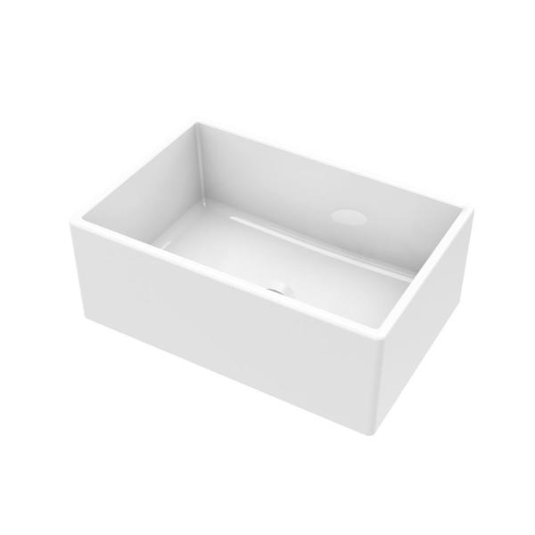 Farmhouse Apron Front Fireclay 24 in. Single Bowl Kitchen Sink in White