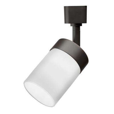 Cylinder Glass 1-Light Oil-Rubbed Bronze Track Lighting Head