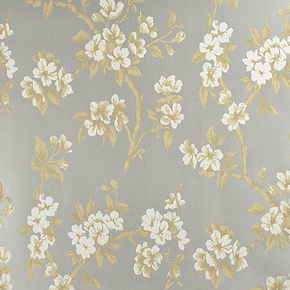 Advantage 60 8 Sq Ft Ellen Silver Floral Wallpaper 2810 C360501