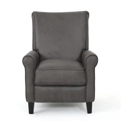 Charell Traditional Slate Microfiber Recliner