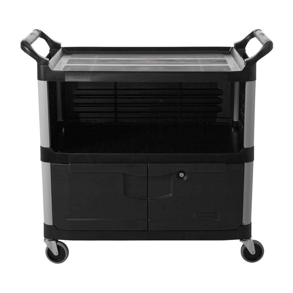 Rubbermaid Commercial Products Xtra Equipment Cart in Black