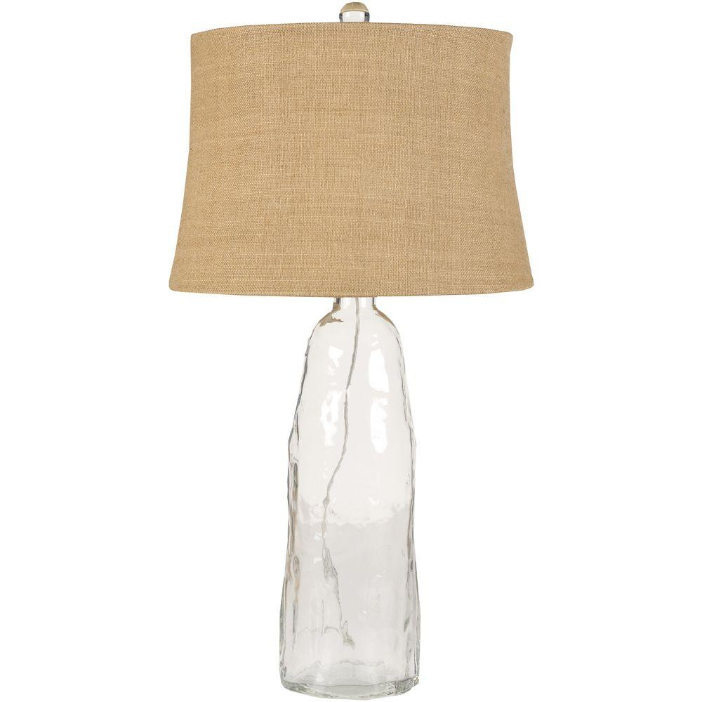 Artistic Weavers Marinette 33 in. Clear Glass Table Lamp