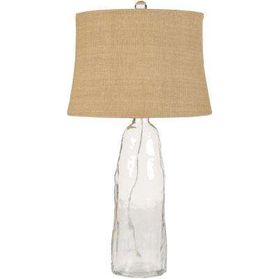 Marinette 33 in. Clear Glass Table Lamp