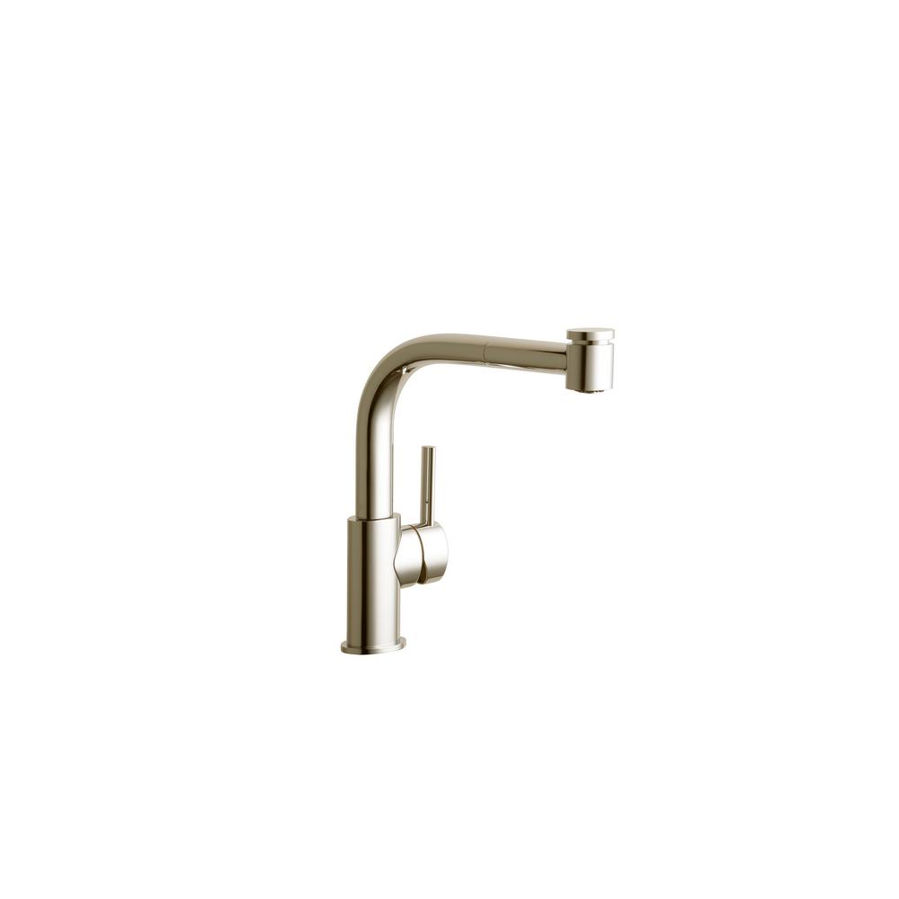 Elkay Mystic Single-Handle Pull-Out Sprayer Kitchen Faucet in ...