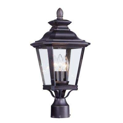 Knoxville 9 in. Wide 3-Light Outdoor Bronze Post Light