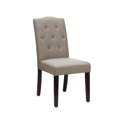 Tufted Parsons Chair Dining Chairs Kitchen Dining Room Furniture The Home Depot