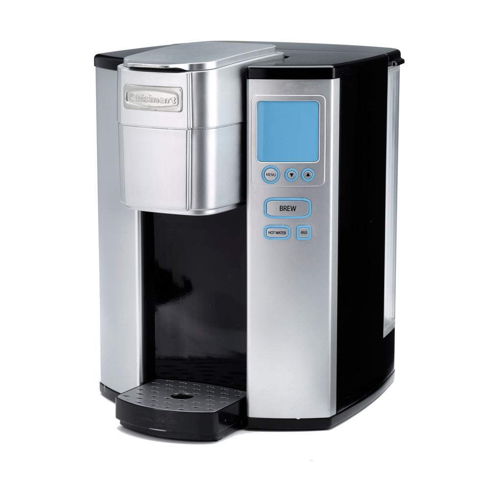 Premium Programmable Silver Single Serve Coffee Maker
