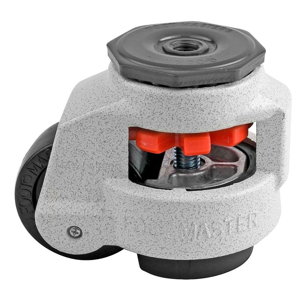 Foot Master 2-1/2 in. Nylon Wheel Standard Stem Leveling Caster with Load Rating 1100 lbs.