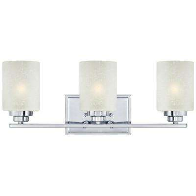 Hansen 3-Light Chrome Wall Fixture