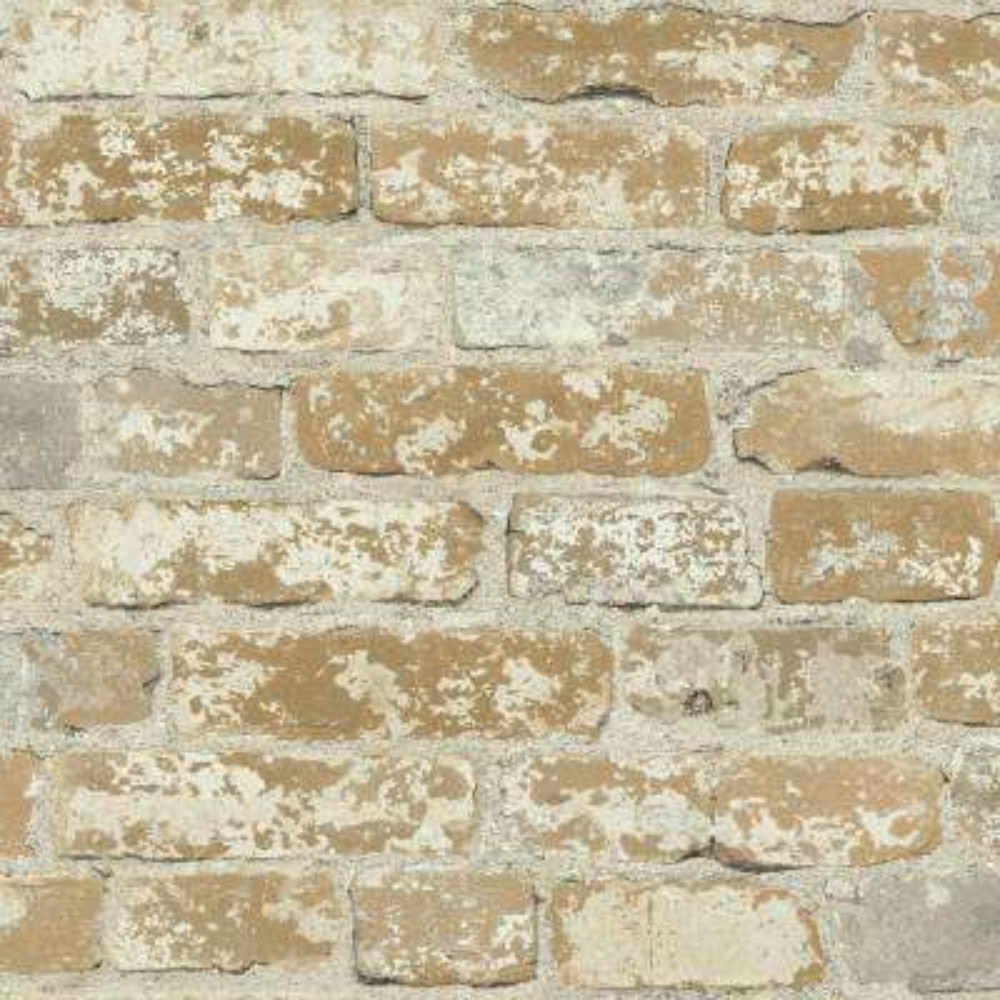28.18 sq. ft. Stuccoed Brown Brick Peel and Stick Wall Decor