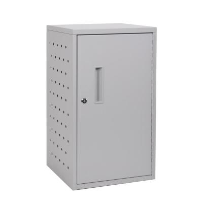 13 in. x 13 in. 12 Capacity Tablet Wall Charging Box in Gray