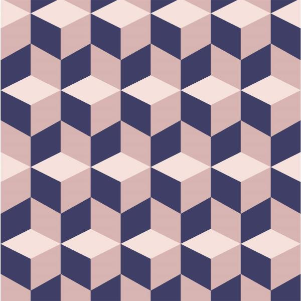 Mitchell Black Debut Collection Cubular in Pink/Navy Removable and Repositionable Wallpaper