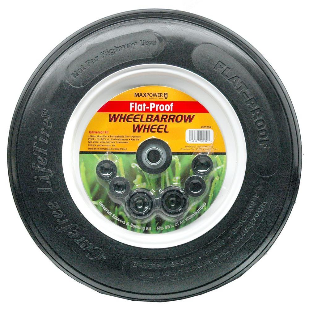 Wheelbarrow Wheel Flat-Proof