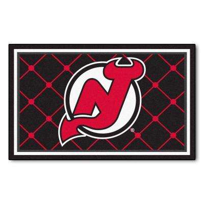 New Jersey Devils 4 ft. x 6 ft. Area Rug