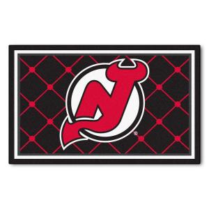 e070685ed FANMATS NHL New Jersey Devils Black 2 ft. x 2 ft. Round Area Rug ...