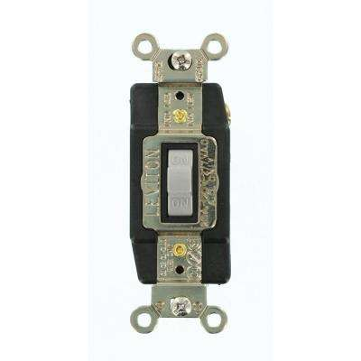 20 Amp Industrial Grade Heavy Duty Single-Pole Double-Throw Center-Off Momentary Contact Toggle Switch, Gray