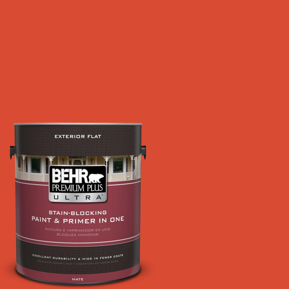 BEHR Premium Plus Ultra 1-gal. #190B-7 Fire Island Flat Exterior Paint