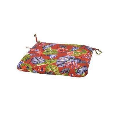 Ruby Tropical Trapezoid Outdoor Seat Cushion