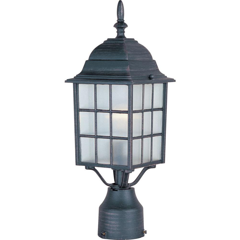 North Church 1-Light Rust Patina Outdoor Pole/Post Lantern