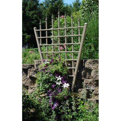 94 in. x 58 in. Mocha Vinyl PVC Estate Trellis