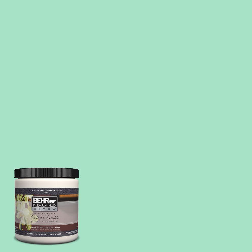 BEHR Premium Plus Ultra 8 oz. #470A-3 Reef Green Interior/Exterior Paint Sample