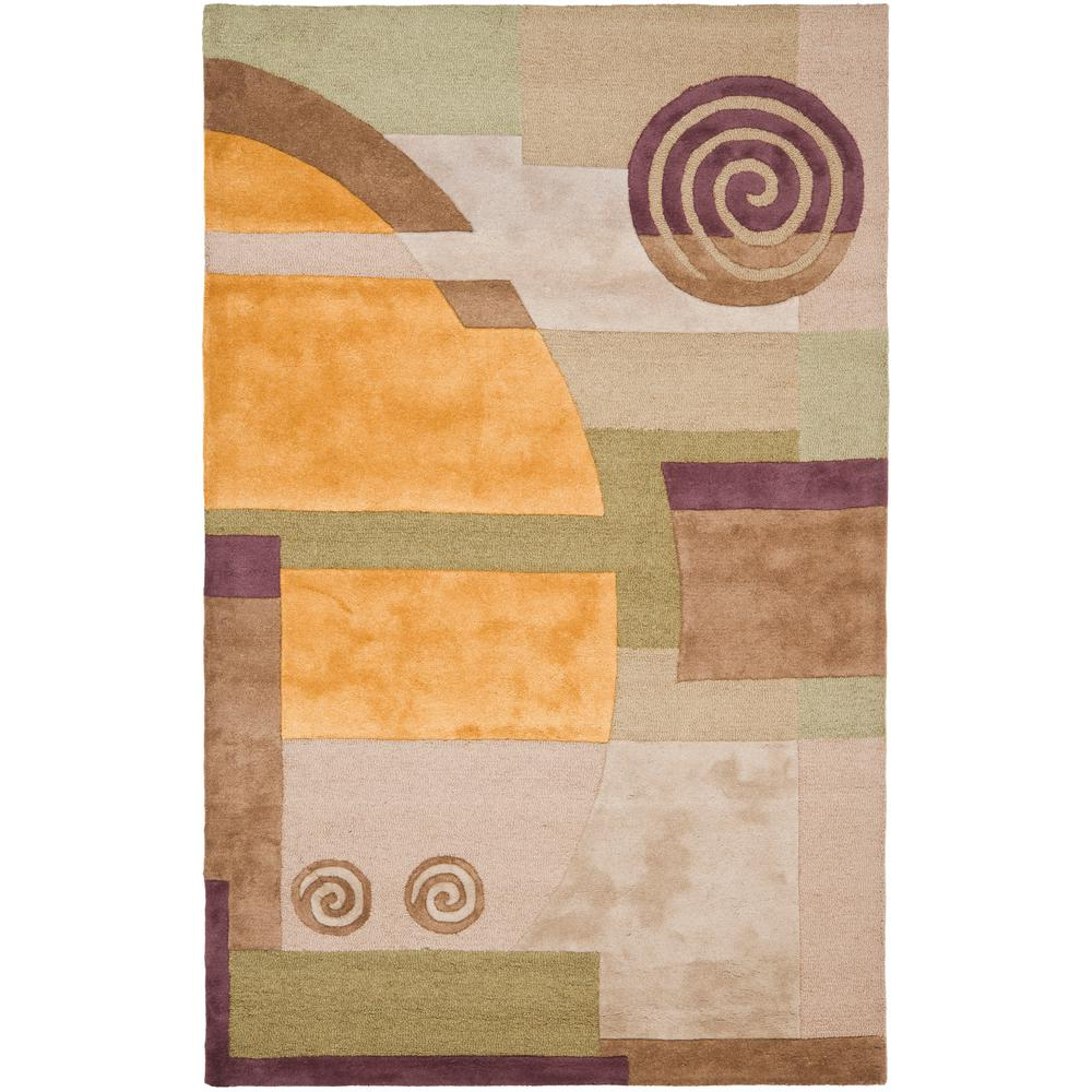 Rodeo Drive Beige 6 ft. x 9 ft. Area Rug