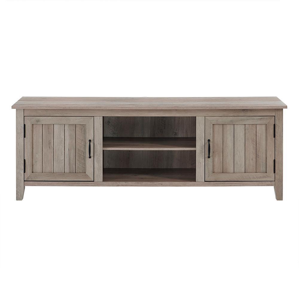 Walker edison furniture company 70 in grey wash modern farmhouse entertainment center tv stand storage