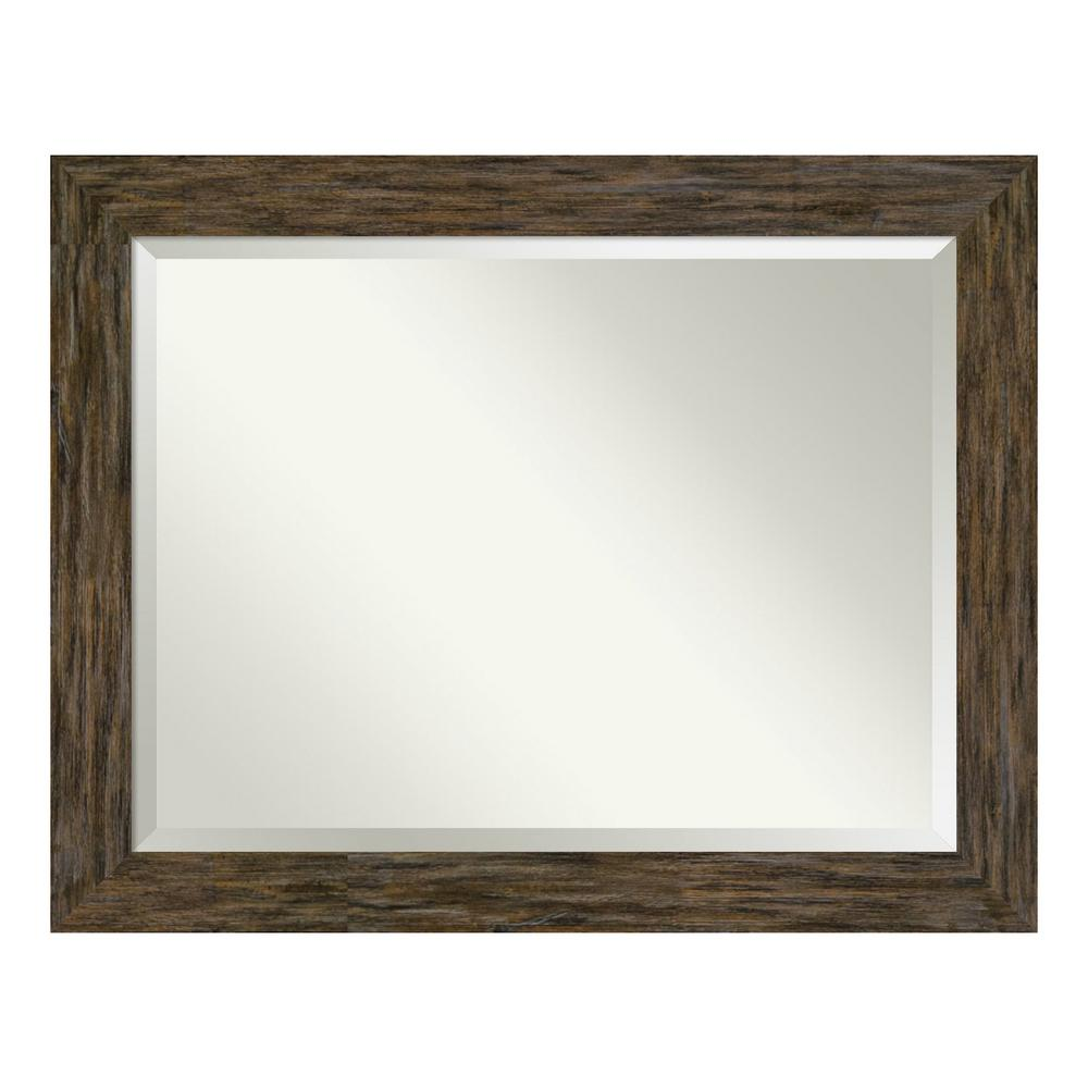Amanti Art Fencepost Brown Decorative Wall Mirror was $442.0 now $259.89 (41.0% off)