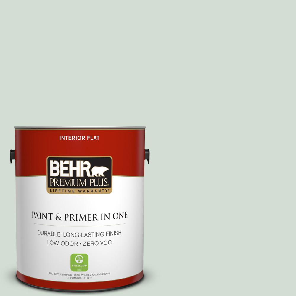 BEHR Premium Plus 1-gal. #700E-2 Lime Light Zero VOC Flat Interior Paint