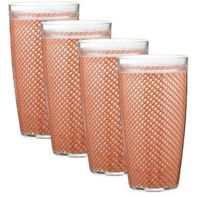 Fishnet 24 oz. Toffee Insulated Drinkware (Set of 4)