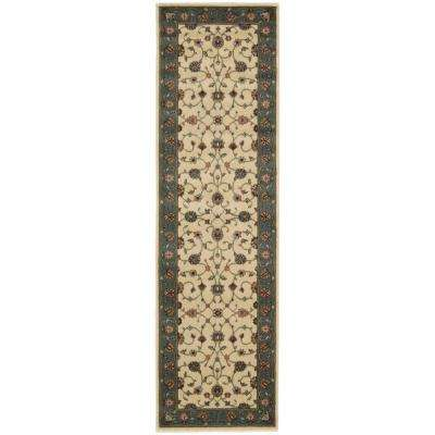 Persian Arts Marlik Ivory 2 ft. x 8 ft. Runner Rug