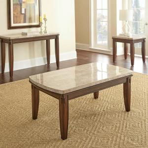 Eileen White Marble Top Tail Table