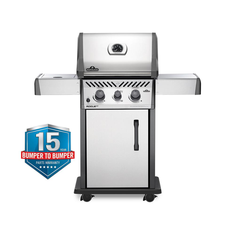 NAPOLEON Rogue 2-Burner Natural Gas Grill with Infrared Side Burner in Stainless Steel
