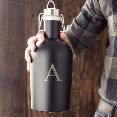 Black Stainless Steel Growler - A