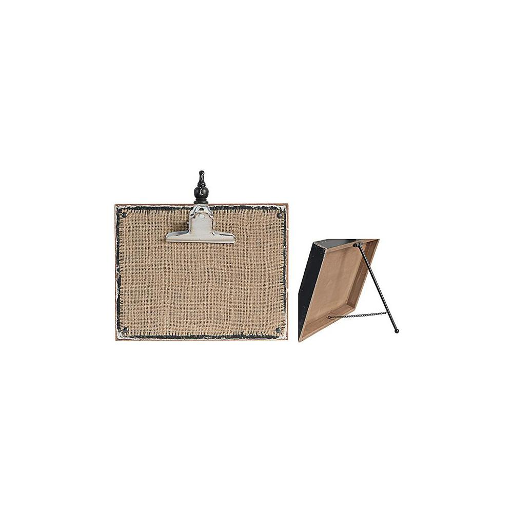10 in. x 10 in. Natural and Black Horizontal Photo Clipboard