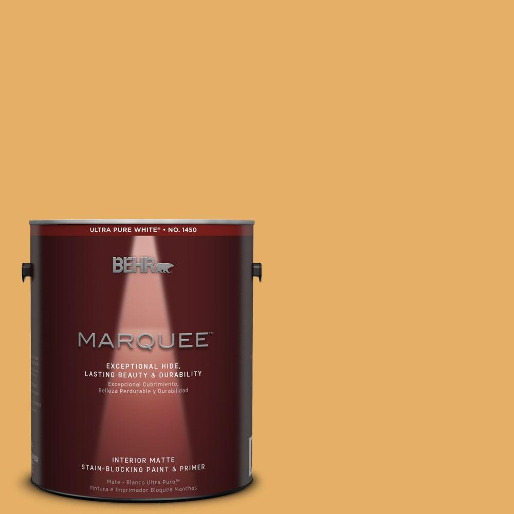 BEHR MARQUEE 1 gal. #MQ4-11 Lamplit One-Coat Hide Matte Interior Paint