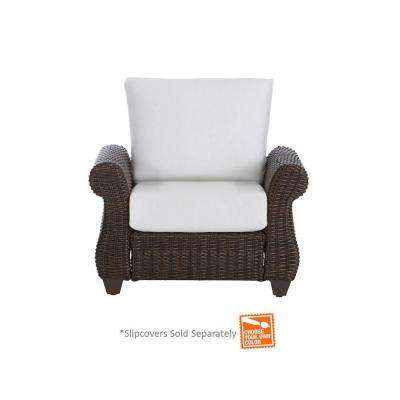 Mill Valley Fully Woven Patio Lounge Chair With Cushion Insert (Slipcovers  Sold Separately)