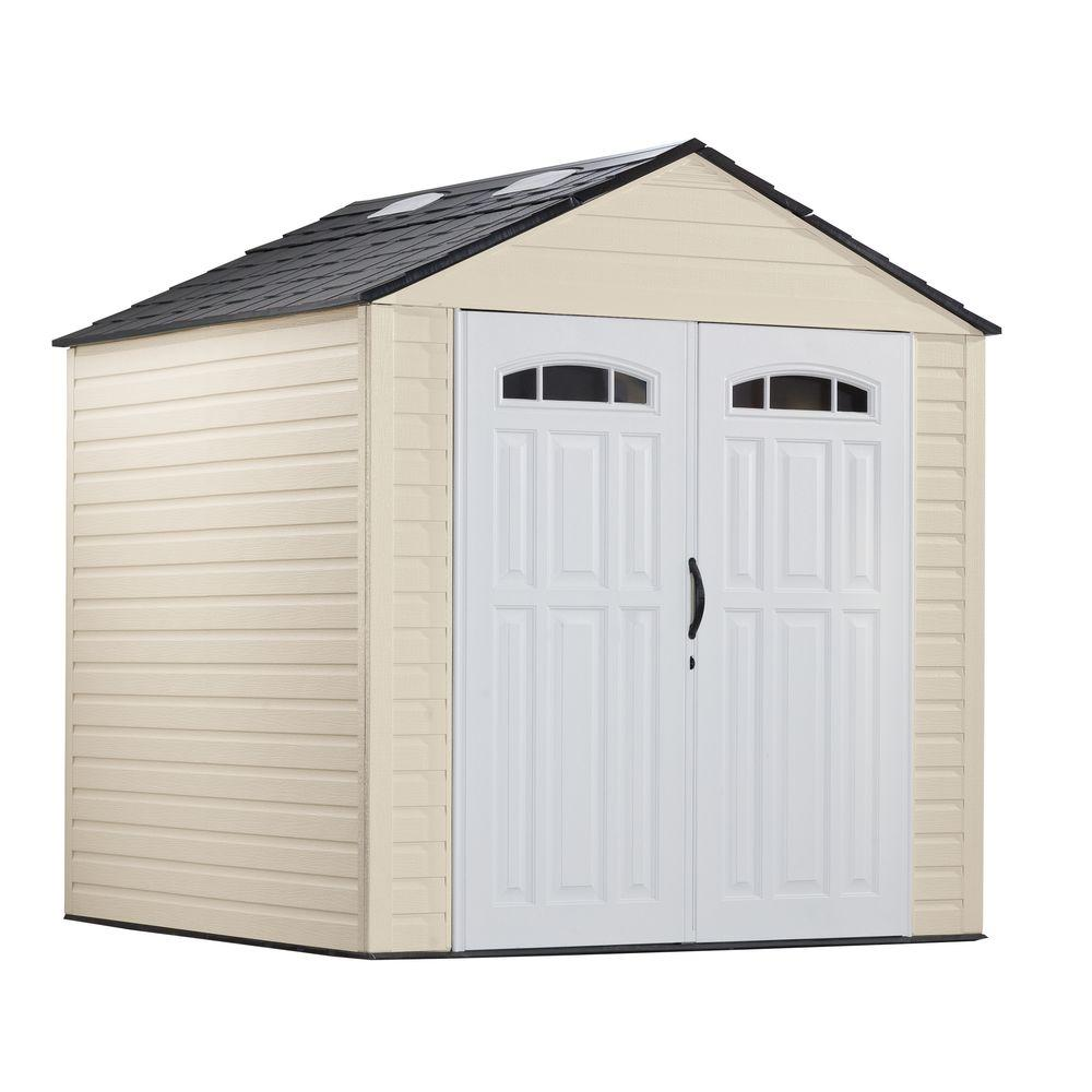 Rubbermaid 7 ft. 2in. x 7 ft. 3 in. Resin Storage Shed ...