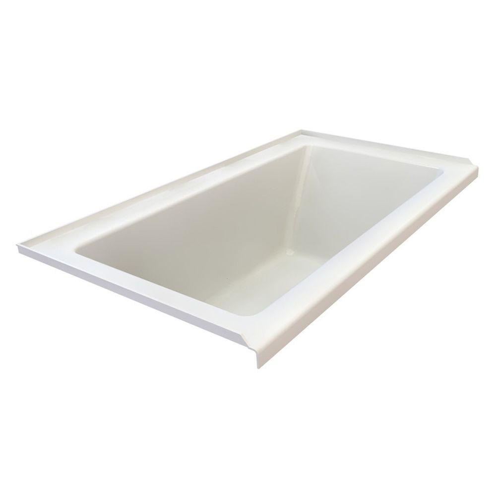 American Standard Studio 5 ft. x 32 in. Left Drain Bathtub with Integral Tile Flange in White-DISCONTINUED