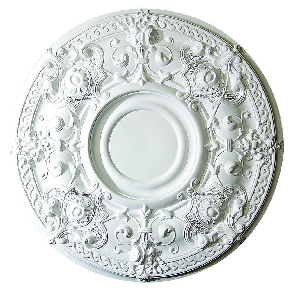 28-1/8 in. x 1-7/8 in. Gothic Floral Polyurethane Ceiling Medallion