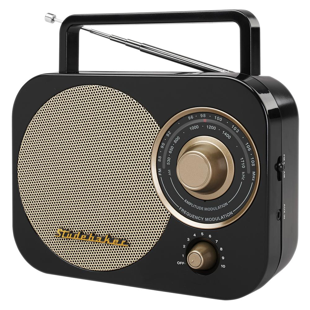 Portable AM/FM Radio in Black