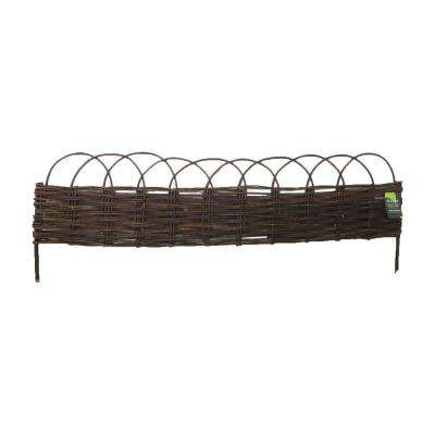 72 in. L 48 in. W 12 in. H Standard Woven Willow Raised Bed (4-Pieces)